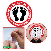 PPE Floor Decal, 6 Ft Apart Social Distance Sticker