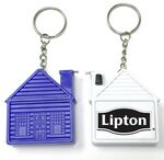 Custom House Shape Tape Measure with Key Chain / Deluxe with Stopper