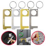 Custom PPE Hygiene Door Opener Closer No-Touch w/ Key Chain