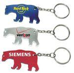 Custom Bear Shape Bottle Opener w/ Key Chain