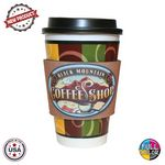 Premium Full Color Dye Sublimation Collapsible Foam Coffee Wrap Insulator