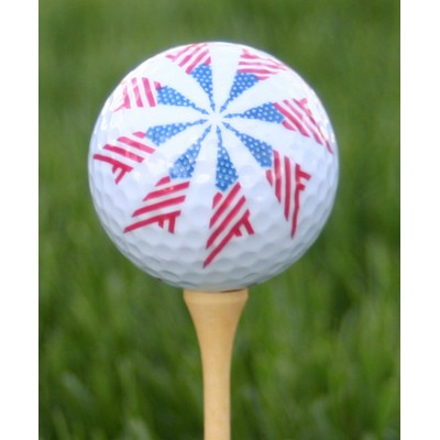 American Flag Swirl Golf Ball
