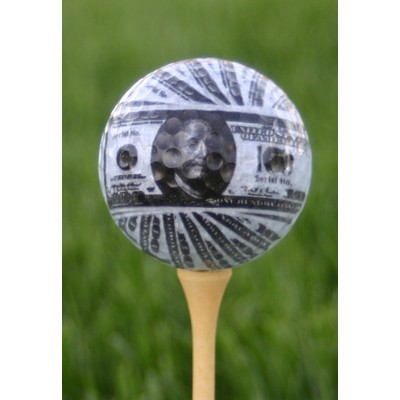 Money Pattern Golf Ball