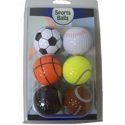 Six Ball Sports Pack