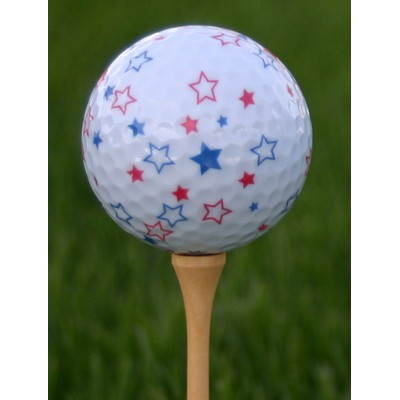 Star Pattern Golf Ball