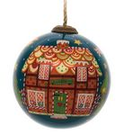 Custom Gingerbread House Glass Ornament
