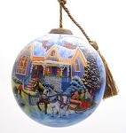 Custom Welcome Home Glass Ornament - Complex Artwork