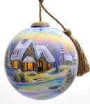 Custom Sweet Home Glass Ornament