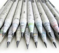 TreeSmart Imprinted Newspaper Style Pencils