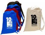 Custom Large Canvas Laundry Bag with Webbed Shoulder Strap