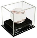 Custom Baseball Acrylic Display Case w/Black Base