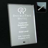 "4""x6"" Mirrored Glass Plaque"
