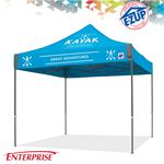 Custom Enterprise 10' x 10' Color Imprint Commercial Tent w/ Steel Frame