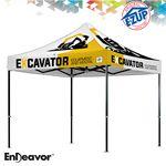 Custom Endeavor 10' x 10' Full-Bleed Digital Print Professional Tent w/ Aluminum Frame