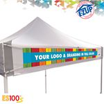 Custom ES100S 10' x 10' Commercial Tent Digital Print Banner