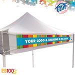Custom ES100S 10' x 10' Commercial Tent Digital Print Banner