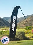 ProFlag™ 11', 16', or 21' Blade Flag with Tail, Folding Base, Pole, & Storage Bag