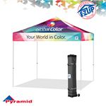 Custom Pyramid 10' x 10' Digital Print Tent w/ Steel Frame