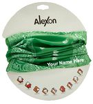Custom Fashion Seamless Bandana - Kelly Green