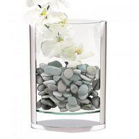 "The Donald 14""-A Unique Blend of Glass & Non Tarnish Aluminum Pocket Vase."