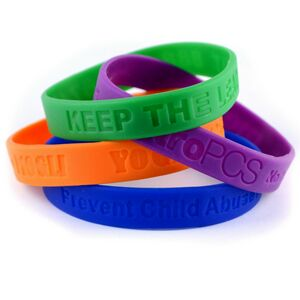 ½ Debossed Silicone Wristband - RUSH