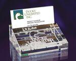 Custom Crystal Business Card Holder (3 3/4
