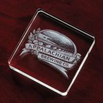 Custom Square Crystal Paperweight Award (3 1/8