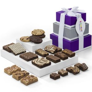 Custom Classic Tower Brownie/ Cookie/Bar Gift (3 Boxes)