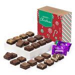 Custom Christmas Morsel 24 Brownie (Brown Box w/ Christmas Tree Band)
