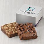 Custom Fairytale Brownies Custom 2-Brownie Favor - Full Color (White/ Purple Box)