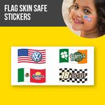 Custom Skin Safe Flag Stickers