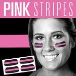 Under Eye Strips (eye black) - Black w/ Pink Stripe