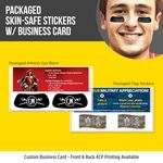 Custom Packaged Athletic Eye Black (1 pair) with Custom Business Card