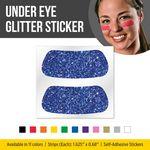 Solid Colored Glitter Under Eye Strips (eye black)