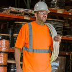 Custom Hi-Viz Class 2 Safety Orange Short Sleeve T-Shirt