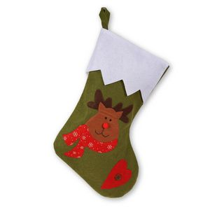 Custom Red Nosed Reindeer Christmas Stocking