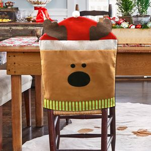 Dining Room Reindeer Holiday Chair Cover