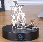 Custom Magnetic Sculpture Desk Toy- 13 Small People & 8 Metal Bars