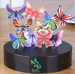 Custom Magnetic Sculpture Desk Toy- 12 Butterfly's