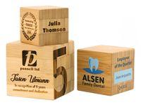 """Bamboo Cube Desk Award (3""""X3"""")"""