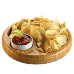 Custom BistroTek Bamboo Snack Bowl Set