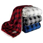 Custom Lux Plaid Sherpa Blankets