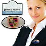 Custom Oval Top Shaped Name Badge w/Magnetic Fitting (2 3/16