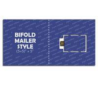 "Paper Webkey Bifold Mailer Size (5+5)"" x 5"""