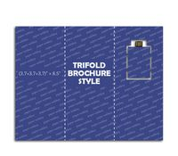 "Paper Webkey Trifold Brochure Size (3.7+3.7+3.7)"" x 8.5"""