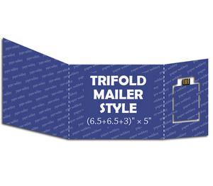 ap pwk07 paper webkey trifold mailer size 6 5 6 5 3 x 5 ap
