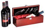 Custom Rosewood Piano Finish Single Wine Presentation Box with Tools