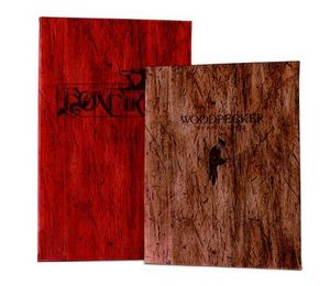 Driftwood Card Menu Cover w/ 12 Views Pocket Windows (8.5x14)