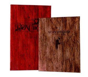 Driftwood Card Menu Cover w/ 1 Panel, 2 View Window (4.25x11)
