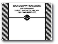 Standard Pin Fed Mailing Label w/Diagonal Stripe Side Borders